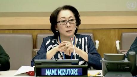 Mami Mizutori, chef du Bureau de l'ONU pour la prévention des catastrophes, a rappelé que 91% des catastrophes de grande ampleur sont des phénomènes climatiques extrêmes