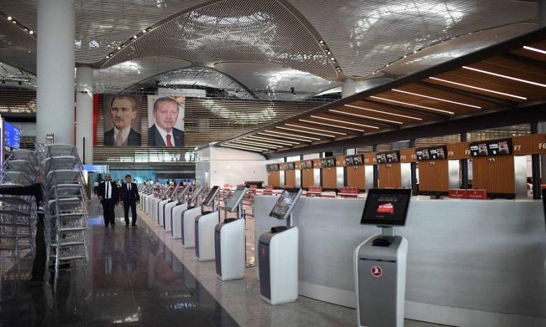 Erdogan inaugure un nouvel aéroport  à Istanbul