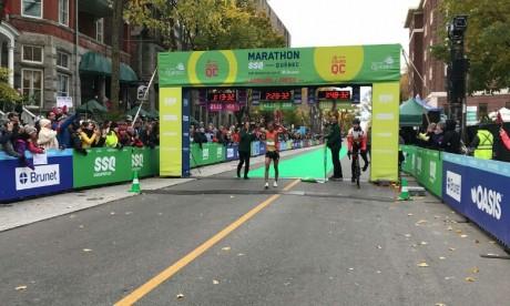 Le Marocain Mohamed Aagab remporte le marathon de Québec