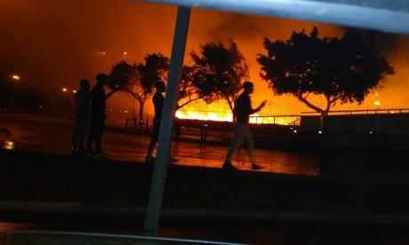 Incendie près de la gare Oulad Ziyane: pas de blessés