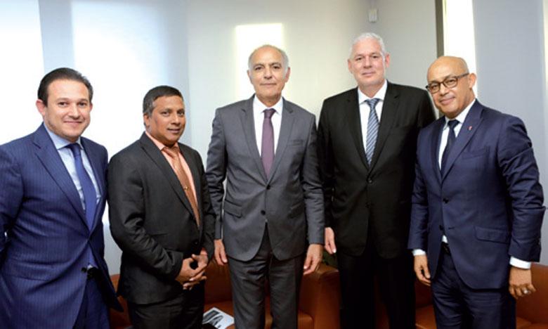 Séance de travail entre  le président de la CGEM  et le Premier ministre  de Sainte-Lucie