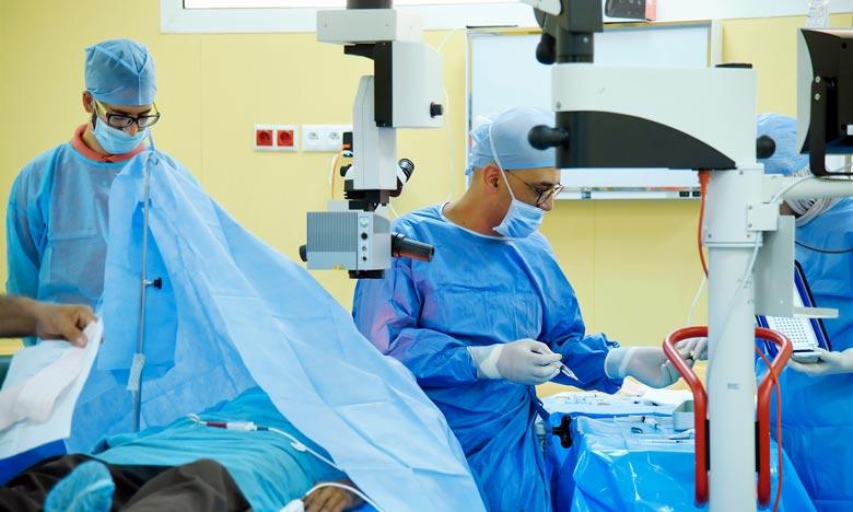 La campagne médicale de chirurgie de la cataracte au profit des personnes démunies de Salé, vise quelque 300 personnes démunies atteintes de la cataracte, en particulier ceux figurant dans la liste d'attente. Ph : MAP