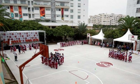 Tibu Maroc inaugure un centre de basketball  au quartier Al-Hank