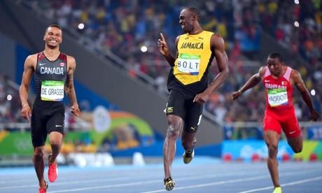 Usain Bolt a arrêté l'athlétisme l'an dernier et tente de se reconvertir dans le football professionnel. Ph :  AFP