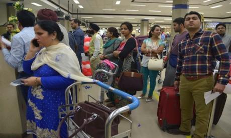 Les voyageurs indiens sur les vols intérieurs pourront choisir de voyager sans papiers d'identité ni cartes d'embarquement grâce à un système d'authentification biométrique. Ph. AFP/Archives