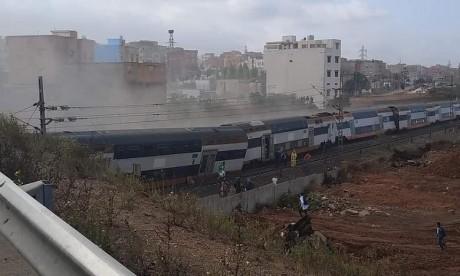 Au moins cinq morts dans le déraillement d'un train à Bouknadel