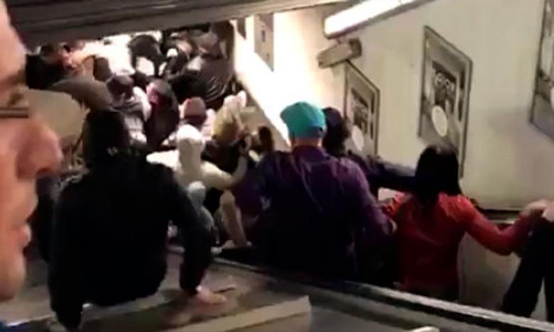 Un accident dans un escalier roulant fait une vingtaine de blessés à Rome
