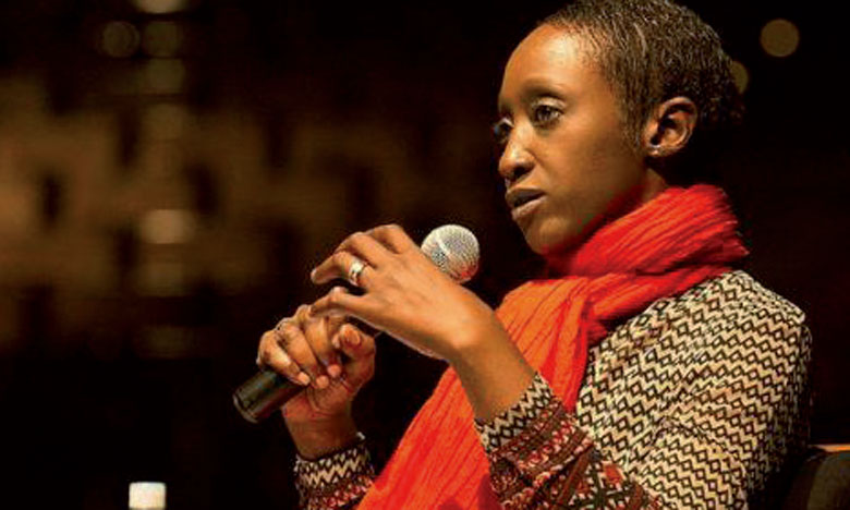Mme N'Goné Fall, commissaire de l'exposition et consultante en ingénierie culturelle.