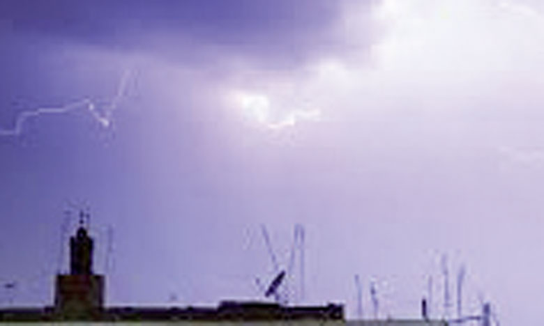 Averses orageuses localement fortes, aujourd'hui et demain dans plusieurs provinces  du Royaume