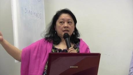 «Le Fonds vert n'est pas assez efficace, même s'il s'est amélioré, et il n'est pas assez financé», a dit Lidy Nacpil, observatrice au conseil d'administration du Fonds au nom de la société civile des pays en développement. Ph. DR