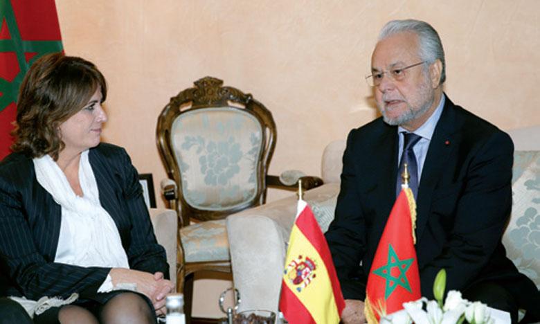 Le secrétaire général du gouvernement s'entretient à Rabat avec la ministre espagnole de la Justice