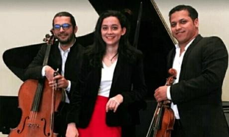 Le Maroc a été représenté par trois jeunes musiciens virtuoses : la pianiste Lina  Berrada, le violoniste Mohamed El Hachoumi et le violoncelliste Anwar Saidi. Ce trio a interprété des morceaux de grands auteurs classiques. Ph : DR