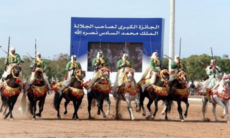 La première épreuve du Grand Prix de Sa Majesté Le Roi Mohammed VI de Tbourida. Ph. MAP