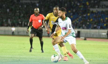 Mahmoud Benhalib (en blanc), fer-de-lance des Verts, compte déjà 11 buts en Coupe de la CAF.