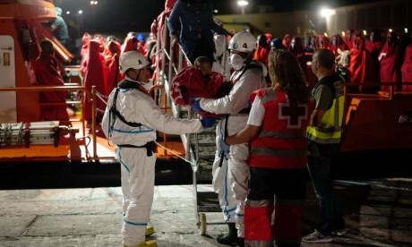 Le Secours maritime a secouru le week-end, 1.181 personnes dans 30 embarcations. L'Espagne est devenue cette année la première porte d'entrée de l'immigration clandestine en Europe. Ph : AFP