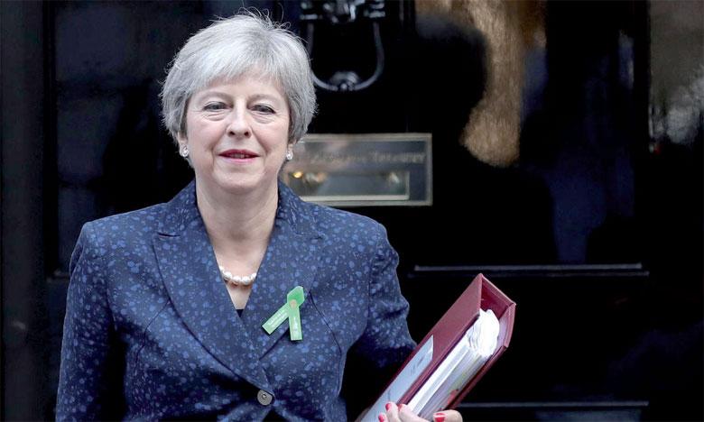 La Première ministre britannique Theresa May devant le 10 Downing Street à Londres.                                                                                                                    Ph. Reuters