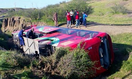 Accident d'autocar à Béni Mellal : 54 blessés selon un dernier bilan