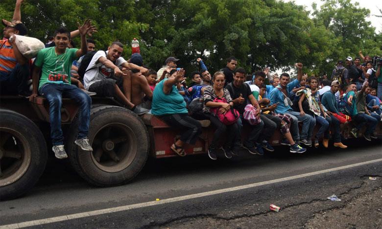 Des migrants honduriens en route pour les États-Unis arrivant au Guatemala le 17 octobre 2018. Ph. AFP