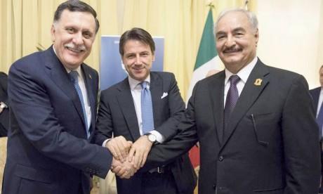 Le Premier ministre a rencontré Khalifa Haftar à Palerme