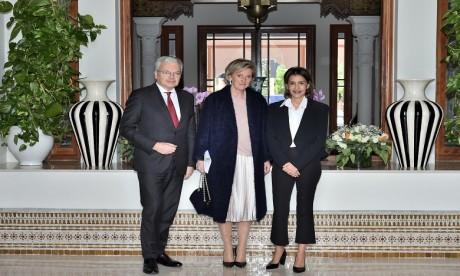 S.A.R. la Princesse Lalla Meryem reçoit la Princesse Astrid, représentante de S.M. le Roi des Belges