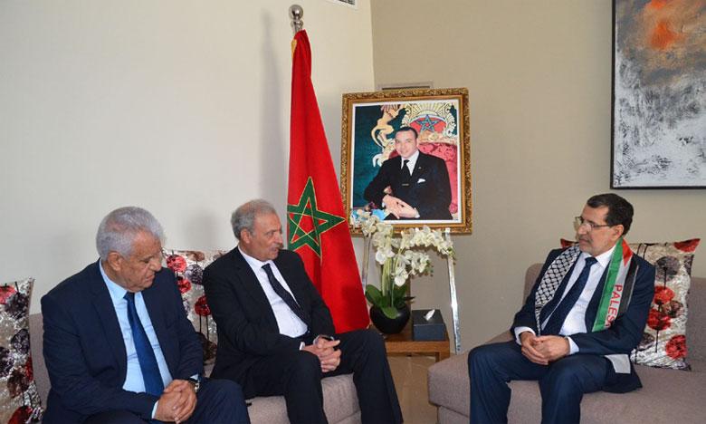 Le vice-Premier ministre palestinien exprime la profonde gratitude du gouvernement et du peuple palestiniens à l'endroit des initiatives de S.M. le Roi Mohammed VI, Président du Comité Al-Qods