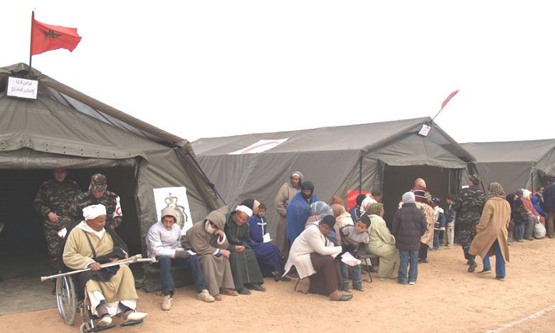 Les FAR déploient deux hôpitaux de campagne à Azilal et à Midelt