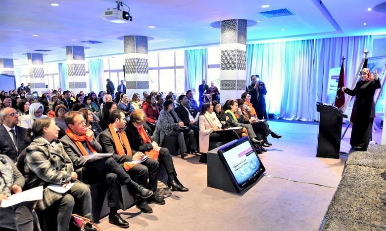 Bassima Hakkoui a relevé que le Maroc a pris les mesures nécessaires pour renforcer la lutte contre la violence faite aux femmes, de manière à offrir un cadre stratégique pour identifier et coordonner les interventions en la matière. Ph : MAP