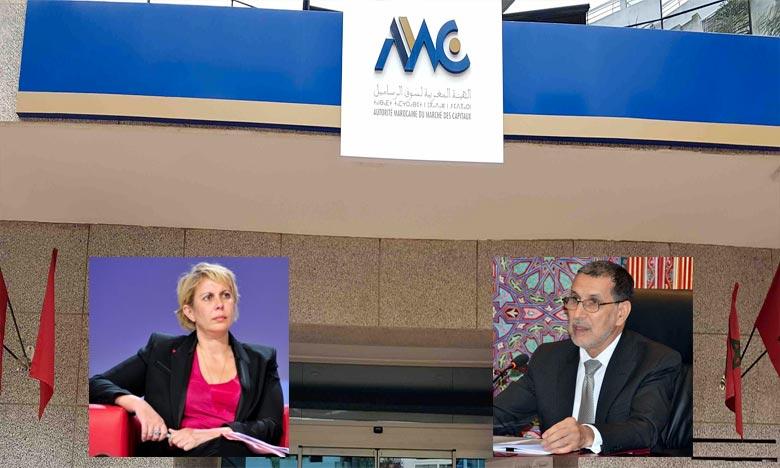 Nezha Hayat a présenté au chef du gouvernement le rapport annuel des activités de l'Autorité ainsi que les activités du marché des capitaux au titre de l'année 2017. Ph : DR