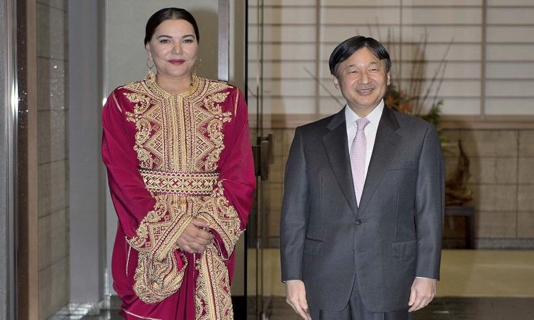 S.A.R. la Princesse Lalla Hasnaa s'entretient à Tokyo avec le Prince héritier du Japon
