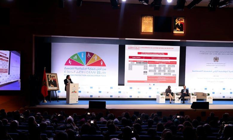 Les 1ères assises nationales sur la protection sociale avaient pour objectif d'ouvrir un débat public en vue d'élaborer une vision intégrée du système de la protection sociale en tant que composante essentielle du nouveau modèle de développement. Ph : MAP