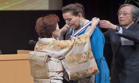 S.A.R. la Princesse Lalla Hasnaa reçoit à Tokyo le prix international GOI Peace 2018