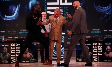 La tension monte entre l'Américain Deontay Wilder et le Britannique Tyson Fury