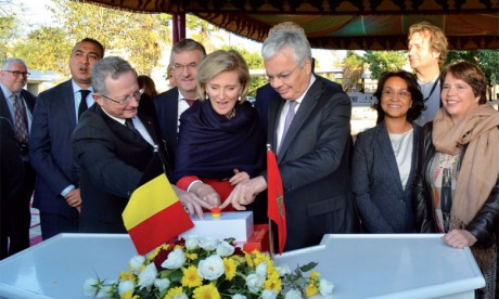 La Princesse Astrid, représentante de S.M. le Roi des Belges, pose la première pierre de la nouvelle ambassade de Belgique à Rabat