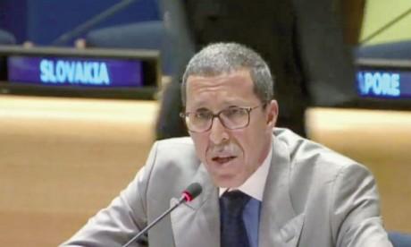 Le projet présenté par le Maroc adopté par consensus et coparrainé par 95 États membres de l'ONU