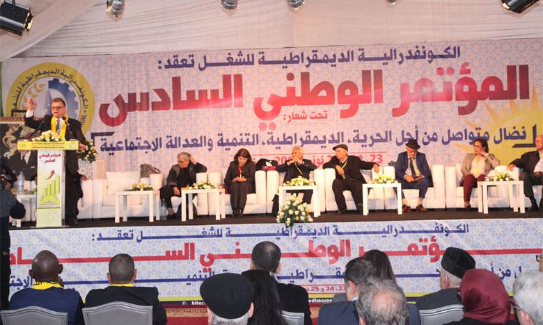 Abdelkader Zaïr succède à Noubir Amaoui à la tête de la Confédération démocratique du travail