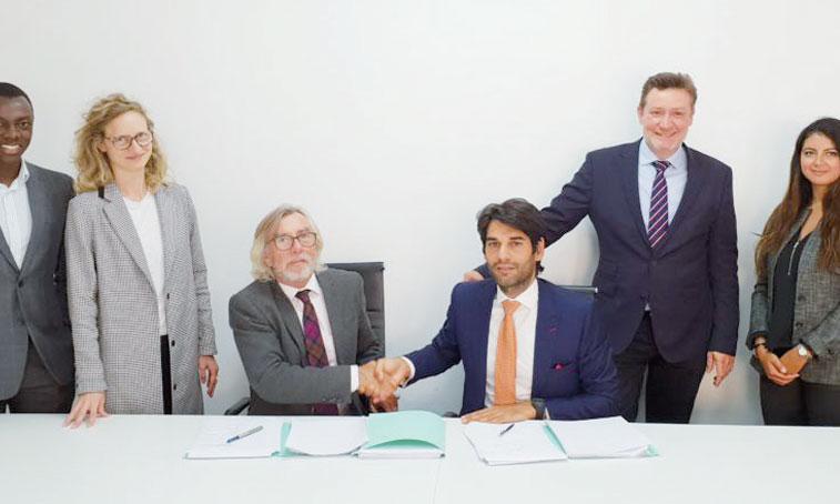 Cérémonie de signature de l'alliance Gaia Energy-SFI.