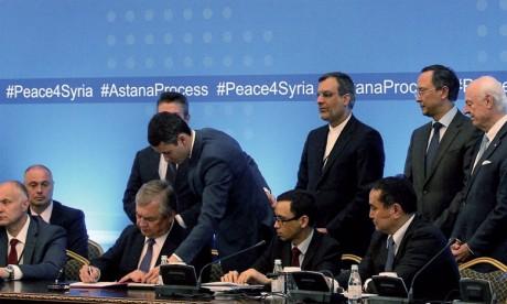 Le processus d'Astana réunit depuis janvier 2017, sans implication de  Washington, des représentants de Damas et une délégation de l'opposition. Ph. AFP