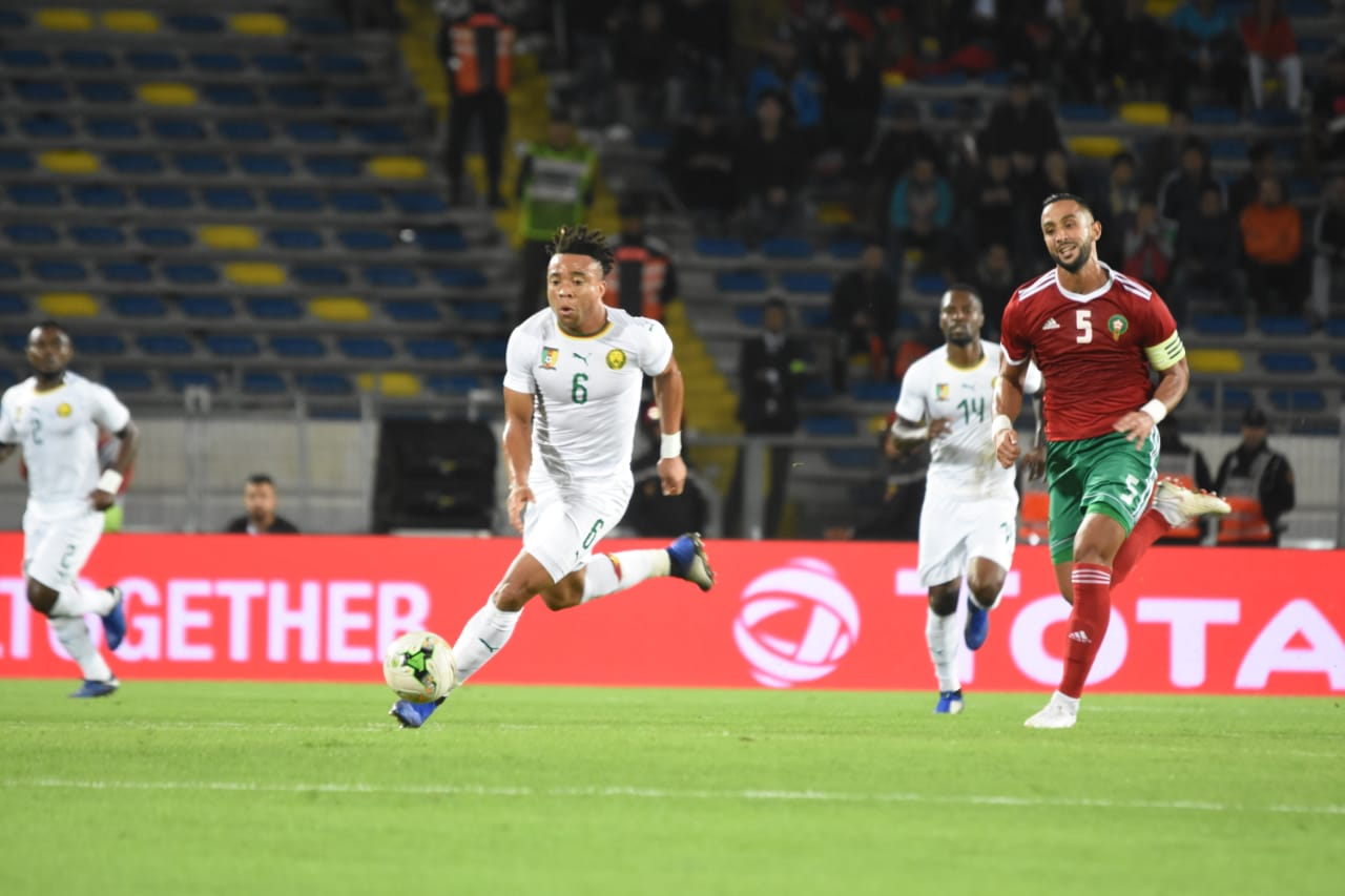 Le Maroc et le Cameroun font match nul 0-0  à la mi-temps