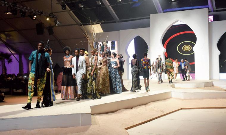 Un show où les matières, les couleurs et les textures africaines étaient largement mises en avant. Ph. Saouri