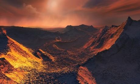 """baptisée Etoile b de Barnard, cette """"super-terre"""" a été débusquée dans la constellation d'Ophiucus, autour de l'étoile de Barnard distante de quelque 6 années lumière de la Terre. Ph. AFP"""