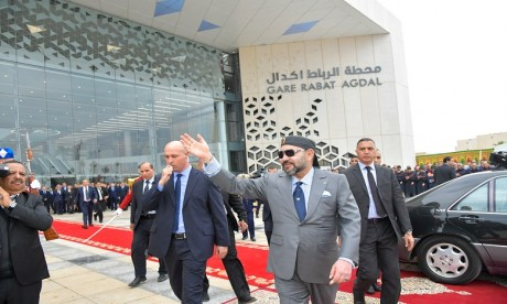 S.M. le Roi lance des projets ferroviaires de grande envergure dans le sillage de l'inauguration du Train à grande vitesse «Al Boraq»