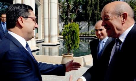 Le Drian salue le partenariat d'exception avec le Maroc