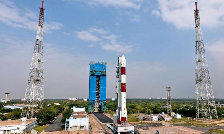 Le «HysIS» a été placé sur une orbite polaire solaire de 636 km, 17 minutes et 27 secondes après le décollage de la fusée. Ph : ISRO