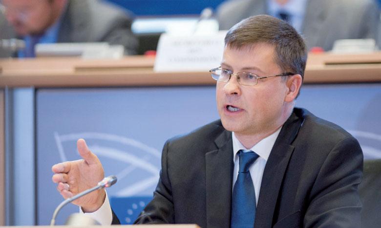 «L'incertitude et les risques, tant externes qu'internes, progressent et commencent à peser sur le rythme de l'activité économique», a souligné le vice-président de la Commission européenne, Valdis Dombrovskis. Ph. Parlement européen