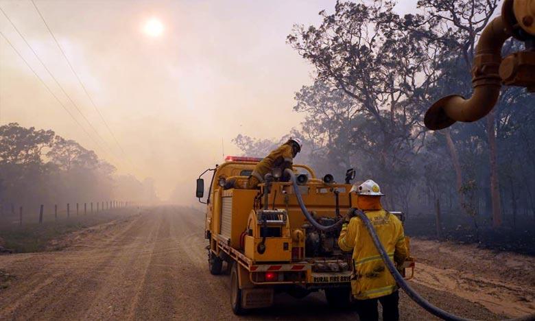 D'importants incendies ont lieu en ce moment en Australie, dans la région du Queensland. Ph. AFP