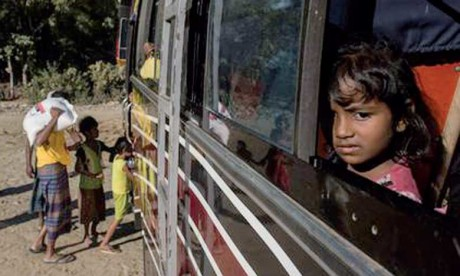 Le plan de rapatriement de la Birmanie prévoit d'accueillir plus de 2.260 personnes déplacées  à un rythme de 150 par jour à compter du 15 novembre.                                                               Ph. AFP