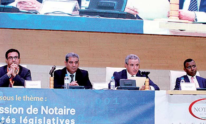 M.Aujjar a appelé l'ensemble des notaires à faire valoir les principes de transparence, de bonne gouvernance, d'intégrité, de rigueur, de sérieux et de confiance.