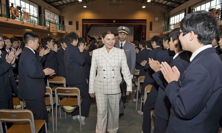 Son Altesse Royale la Princesse Lalla Hasnaa visite l'école Omori de Tokyo