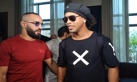 Ronaldinho débarque au Maroc (Vidéo)