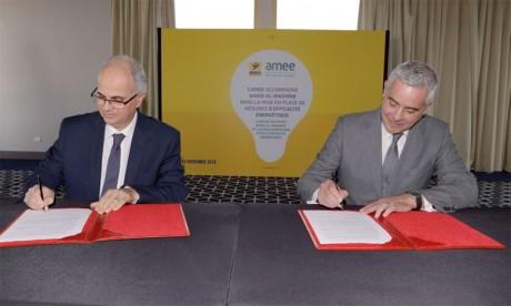 «Cette convention avec l'AMEE marque la poursuite des engagements de Barid Al-Maghrib en matière de réduction de son empreinte carbone», explique Amin Benjelloun Touimi, directeur général du groupe.